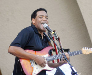Dion Pride performs during theFourth of July celebration at Crystal Beach Park in 2014. Pride will return to Woodward for an event on Feb. 14. (Woodward News file photo)